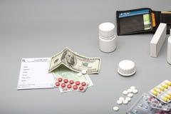 Cost of medicine stock image