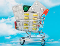 The cost of medicines royalty free stock photography