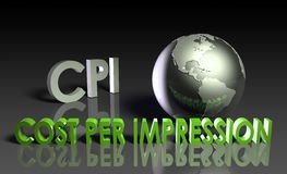 Cost Per Impression Stock Photo