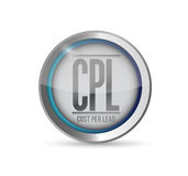 Cost per lead button illustration design Stock Photo