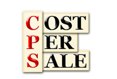 Cost Per Sale Royalty Free Stock Photos