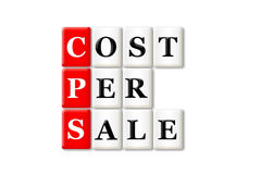 Cost per sale. CPS -cost per sale acronym on white background Royalty Free Stock Photography