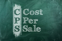 Cost Per Sale Royalty Free Stock Photography