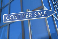 Cost per Sale Royalty Free Stock Photo