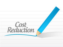 Cost reduction message illustration design Stock Images
