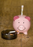 Cost of smoking cigarettes Stock Photo