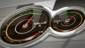 Cost VS Value Analysis Stock Photos