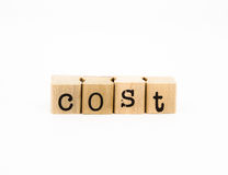 Cost wording, financial and business concept Stock Image
