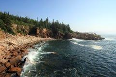 A costa áspera do parque nacional do Acadia, Maine fotos de stock