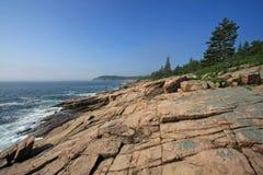 A costa áspera do parque nacional do Acadia, Maine imagem de stock
