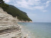 Costa abaixo de Sirolo Foto de Stock Royalty Free