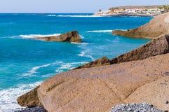 Costa Adeje-Erholungsortküstenlinie, Teneriffa-Insel Lizenzfreie Stockfotos