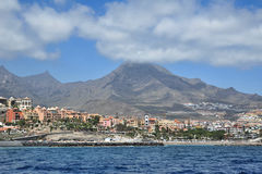 Costa Adeje and Roque del Conde, Tenerife, Canary Islands. Costa Adeje, a well-known holiday resort in south of Tenerife, Canary Islands, is home of many Royalty Free Stock Photography
