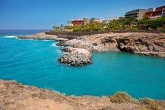 Costa Adeje Strand Playa Paraiso in Teneriffa Lizenzfreie Stockfotografie