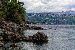A costa adriático em Opatija imagens de stock royalty free