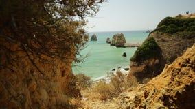 Costa Algarve de Lagos almacen de video