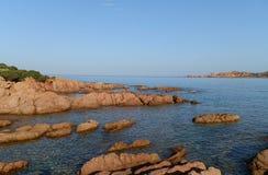 Costa alla Sardegna Fotografia Stock