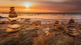 Costa Almeria au lever de soleil photo stock
