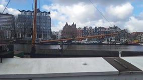 Costa, Amsterdam, Holanda almacen de metraje de vídeo