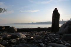 Costa antiga do porto do rio de St Laurent Fotografia de Stock Royalty Free