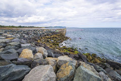 A costa apedreja a praia selvagem na Irlanda Foto de Stock Royalty Free