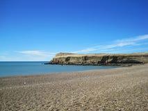 Costa atlántica cerca de Puerto Madryn Imagen de archivo