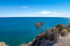 Costa atlántica cerca de Puerto Madryn Imagenes de archivo