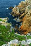 Costa atlántica en Bretaña Fotos de archivo libres de regalías