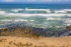 Costa atlántica tempestuosa cerca de la Rabat-venta, Marruecos Fotografía de archivo libre de regalías