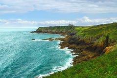 Costa atlântica em Brittany Foto de Stock