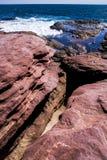 Costa australiana dell'acqua di mare di Kalbarri di formazione rocciosa Fotografie Stock