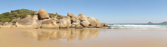 Costa australiana en parque nacional del promontorio de Wilsons Imágenes de archivo libres de regalías