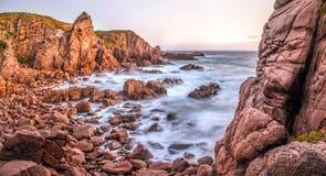 Costa australiana irregolare Fotografia Stock