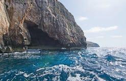 Costa azul da gruta Fotografia de Stock Royalty Free