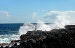 Costa azul de Kapoho Foto de archivo