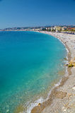 Costa Azul. French Riviera, bay in Nice, France Royalty Free Stock Photos