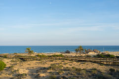 Costa Blanca beach Royalty Free Stock Photography