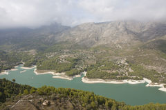 Costa-BLANCA-Berge Stockfoto