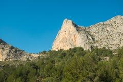 Costa Blanca bergvärld Arkivfoto