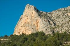 Costa Blanca bergvärld Arkivbilder