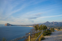Costa Blanca hiking trail Stock Images