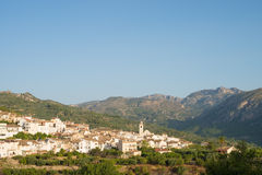 Costa Blanca landscape Stock Photography