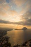 Costa Blanca-Landschaft Stockbild