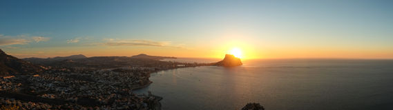 Costa Blanca panorama landscape Royalty Free Stock Image
