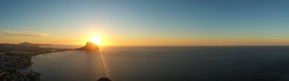Costa Blanca panoramalandskap Arkivfoto