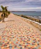 Costa Blanca Promenade - la Spagna Fotografia Stock Libera da Diritti