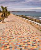 Costa Blanca Mediterranean Sea Promenade - Spain Royalty Free Stock Photography