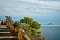 Costa Blanca road Stock Photography