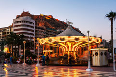 Costa Blanca, Spain. Evening in on of the popular touristic resort in Alicante Stock Photography