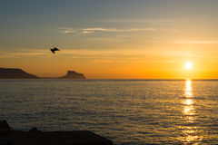 Costa Blanca sunrise Stock Image